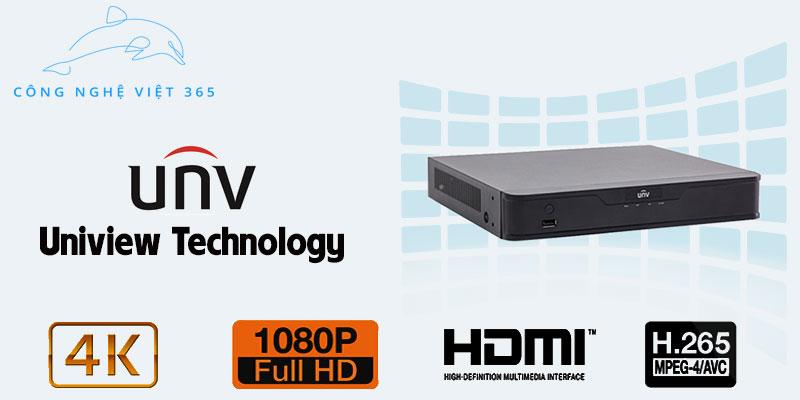 Đầu ghi hình UNV NVR 4 Kênh NVR301 08E