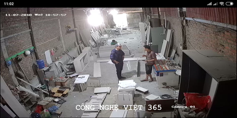 Trọn gói lắp đặt 2 camera Hikvision 1.0 MP - Nhà Xưởng